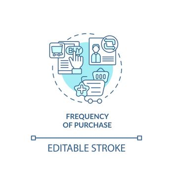 Purchase frequency concept icon