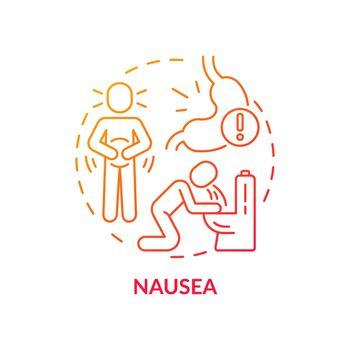 Nausea concept icon