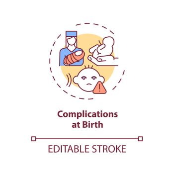 Complications at birth concept icon