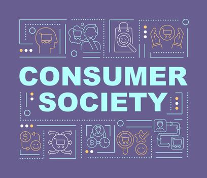 Consumerism society word concepts banner