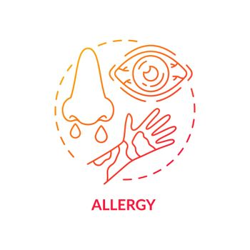 Allergy concept icon