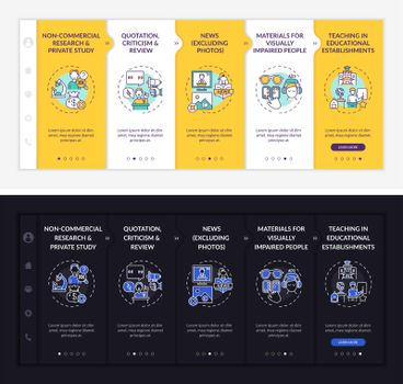 Copyright specificity onboarding vector template