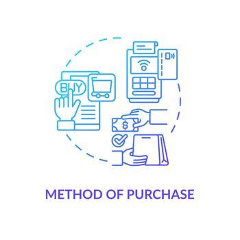 Purchase method concept icon