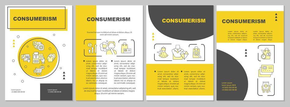 Consumerism yellow brochure template