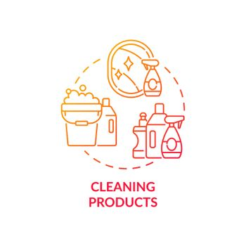Cleaning products concept icon