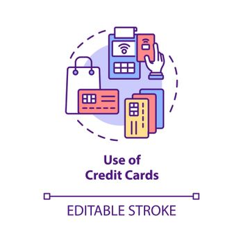 Credit card using concept icon