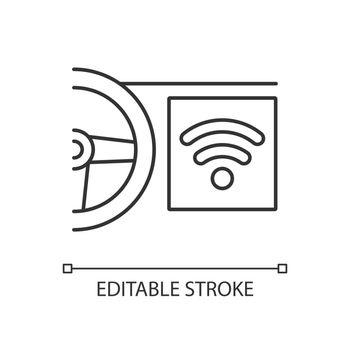 Built in wifi hotspot linear icon