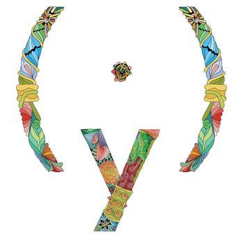 Femininity woman typography symbol for decoration. Vector illustration