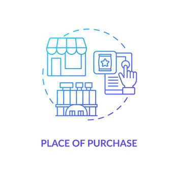 Purchase place concept icon