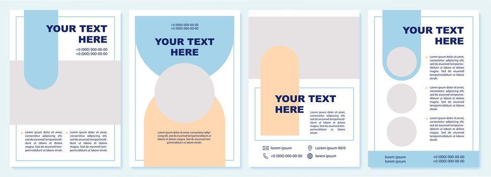 Educational information brochure template