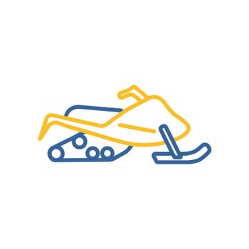 Snowmobile flat vector isolated icon