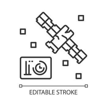 Satellite condition linear icon