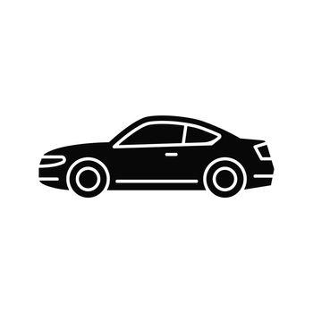 Coupe car black glyph icon