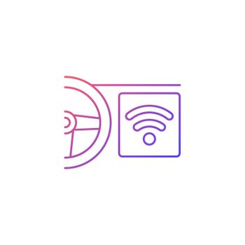 Built in wifi hotspot gradient linear vector icon