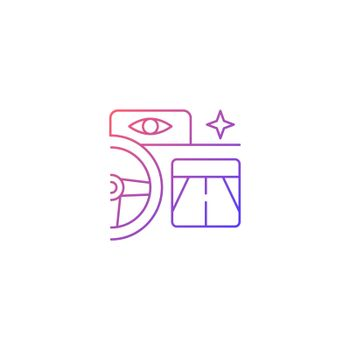 Built in night vision gradient linear vector icon