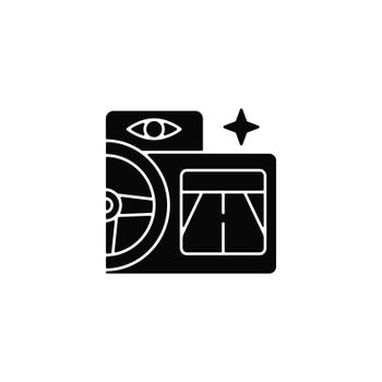 Built in night vision black glyph icon