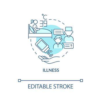 Illness blue concept icon