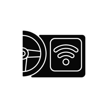 Built in wifi hotspot black glyph icon