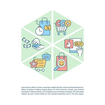 Avoiding consumerism concept line icons with text