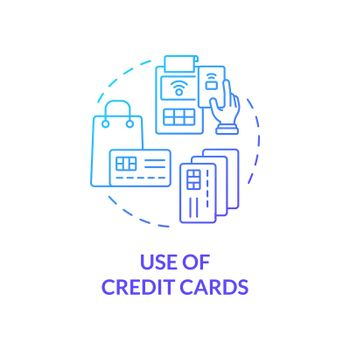 Credit card using blue gradient concept icon