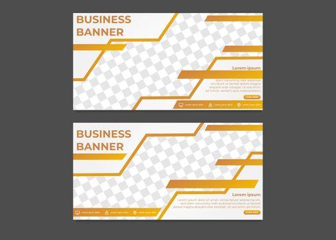simple modern gradient business banner template