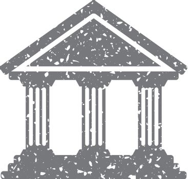 Grunge icon - Bank building