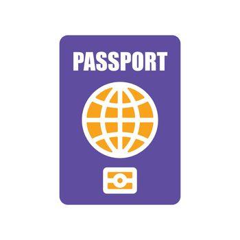 Passport vector flat glyph icon, identification symbol