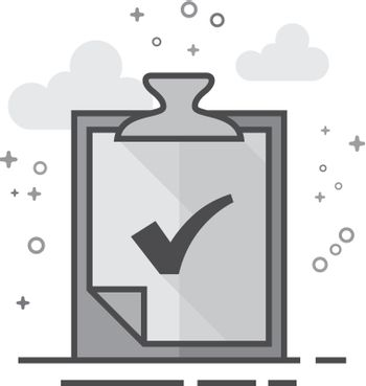 Flat Grayscale Icon - Checkmark