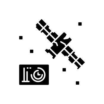 Satellite condition black glyph icon