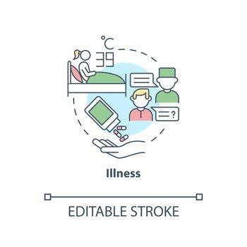 Illness concept icon