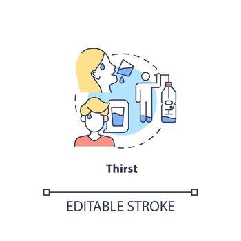 Thirst concept icon