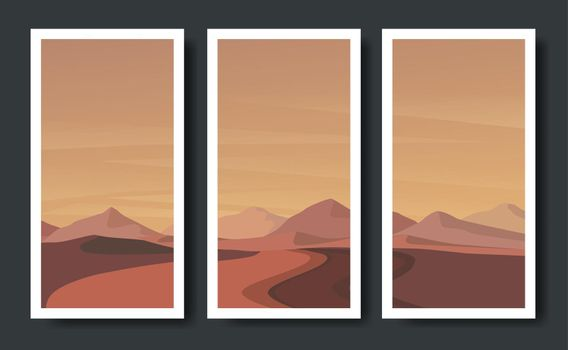 mountains vector landscapes in a flat style