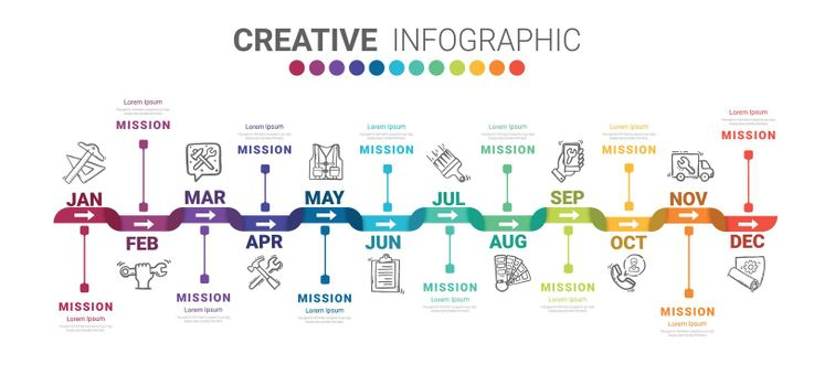 Infographics all month planner design