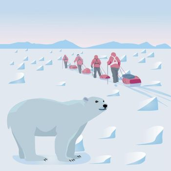 Expedition in the Arctic