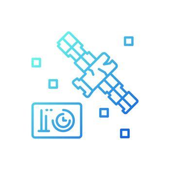 Satellite condition gradient linear vector icon