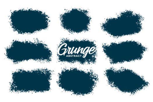 abstract splatter grunge textures set