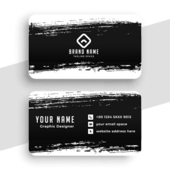 abstract grunge business card template