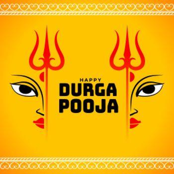 happy durga pooja wishes card design