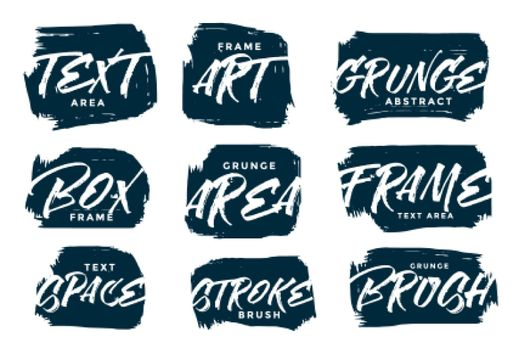 abstract hand drawn grunge textures set