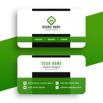 green business card professional design