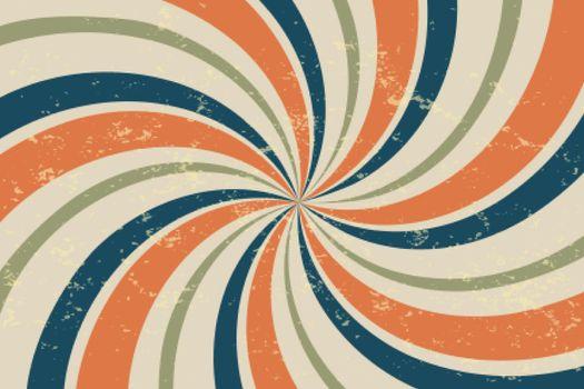 spiral retro rays vintage background
