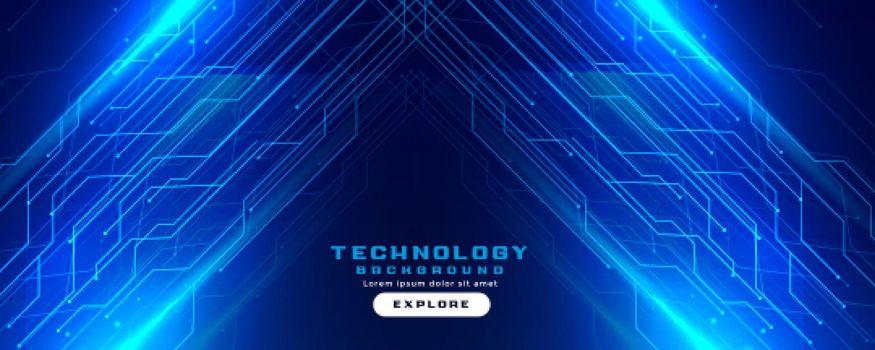 technology circuit lines digital banner