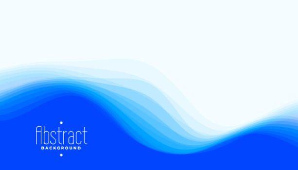 stylish elegant blue waves background