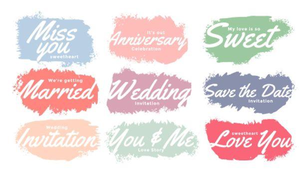 watercolor wedding invitation tags set