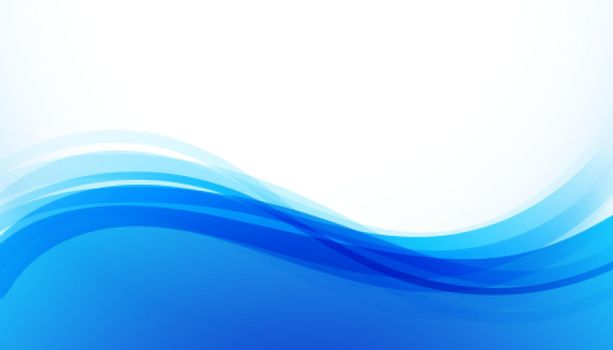 smooth curve blue wavy background