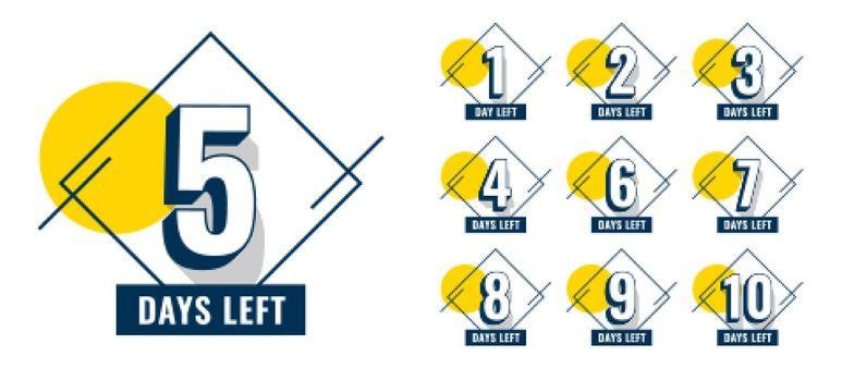 promotional number of days left banner design