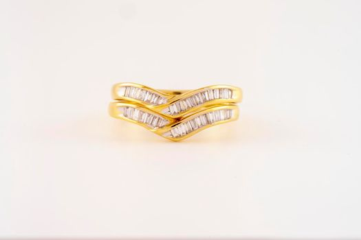 Diamond And Gold Wedding And Eternity Bands