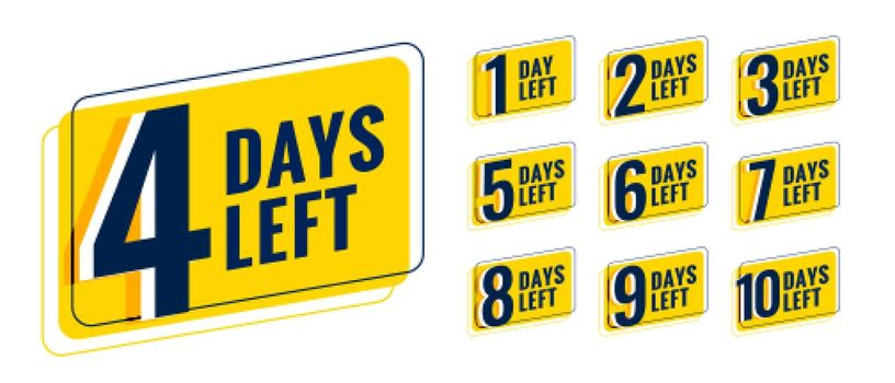 days left countdown timer banner for upcoming event