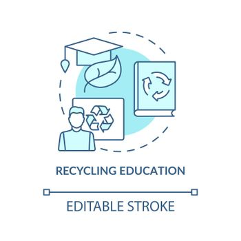 Ecological education concept icon