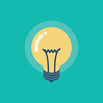 Isometric lightbulb icon